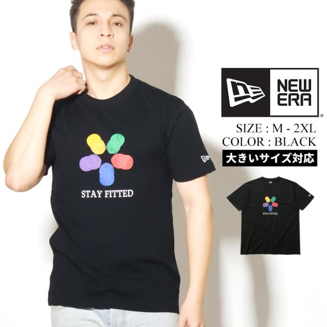 NEW ERA ニューエラ コットン Tシャツ STAY FITTED ブラック レギュラーフィット 12325153