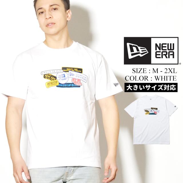 NEW ERA ニューエラ コットン Tシャツ オールドロゴパッチ ホワイト レギュラーフィット 12325135