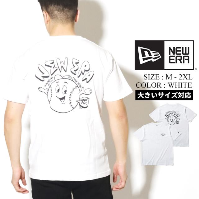 NEW ERA ニューエラ コットン Tシャツ Ball Boy ホワイト レギュラーフィット 12325187