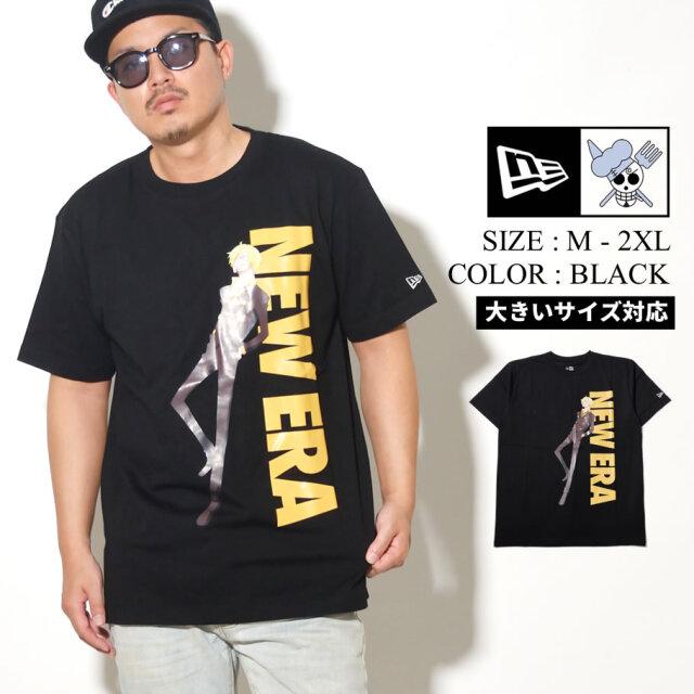 NEW ERA ニューエラ 半袖 コットン Tシャツ ONE PIECE ワンピース サンジ ブラック レギュラーフィット 12542581