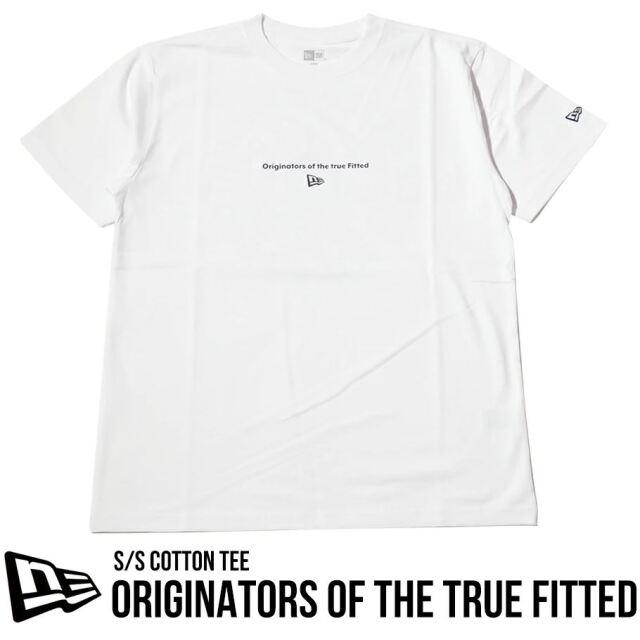 ニューエラ Tシャツ メンズ 半袖 NEW ERA コットンTシャツ レギュラーフィット オリジネーターズ ホワイト 12674217