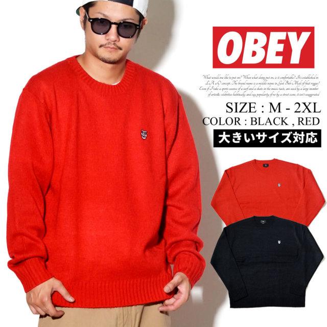 OBEY オベイ セーター メンズ ロゴ ストリート系 ファッション 服 通販 151000040 OBPT001