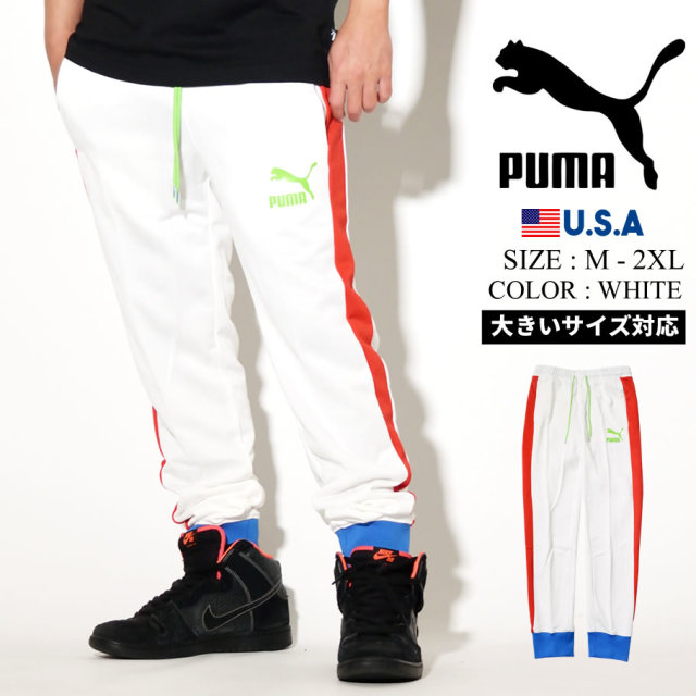 PUMA プーマ トラックパンツ メンズ ロゴ ICONIC T7 TRACK PANT PT 41 PUMA WHITE 595287