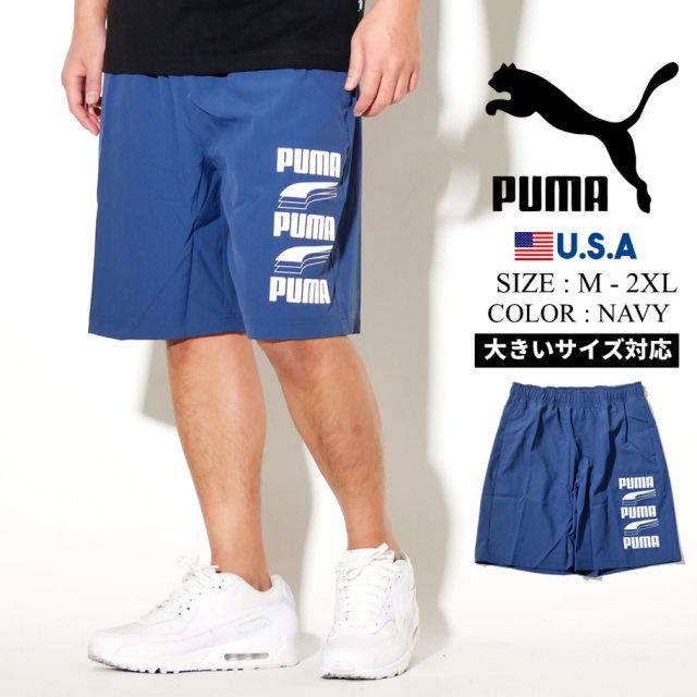 PUMA プーマ ハーフパンツ メンズ ロゴ REBEL Woven Shorts 9 43 Dark Denim 581372