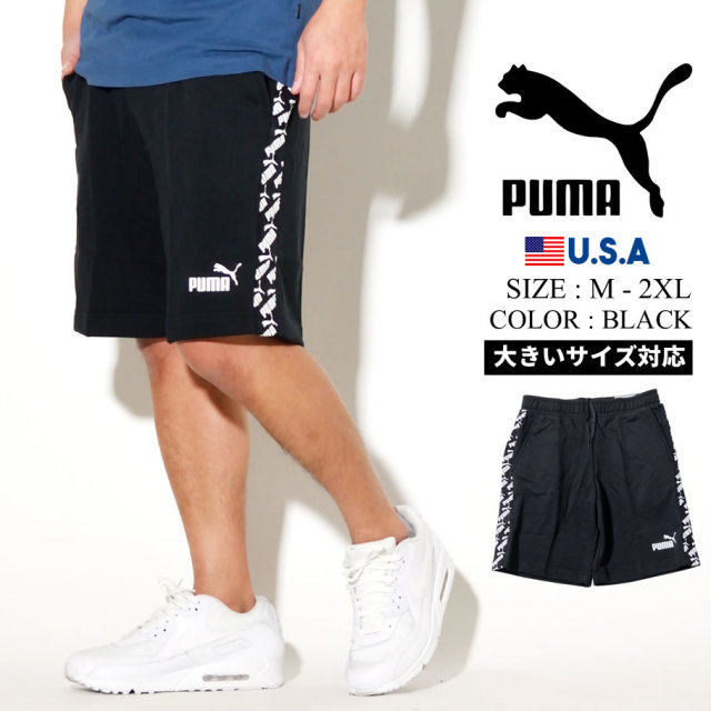 PUMA プーマ ハーフパンツ メンズ ロゴ AMPLIFIED SHORTS TR 01 PUMA BLACK 581416