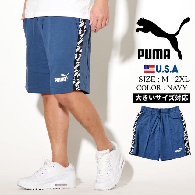 PUMA プーマ ハーフパンツ メンズ ロゴ AMPLIFIED SHORTS TR 43 DARK DENIM 581416