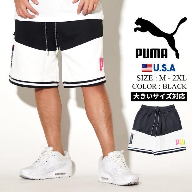 PUMA プーマ ハーフパンツ メンズ ロゴ TFS BASKETBALL SHORT ブラック 597832