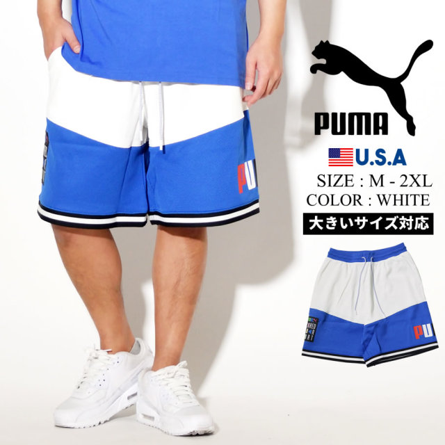 PUMA プーマ ハーフパンツ メンズ ロゴ TFS BASKETBALL SHORT ホワイト 597832