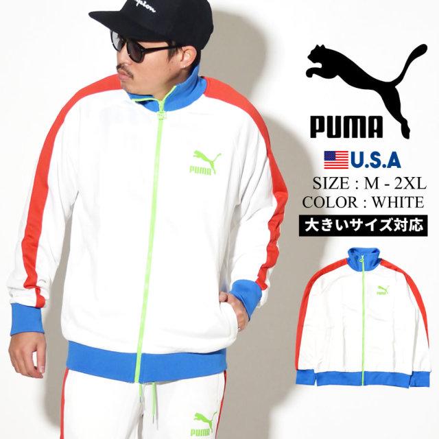 PUMA プーマ トラックジャケット メンズ ロゴ ICONIC T7 TRACK JKT PT 41 PUMA WHITE 595286