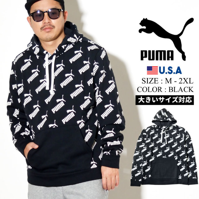 PUMA プーマ パーカー メンズ ロゴ AMPLIFIED HOODY FL 01 PUMA BLACK 597247