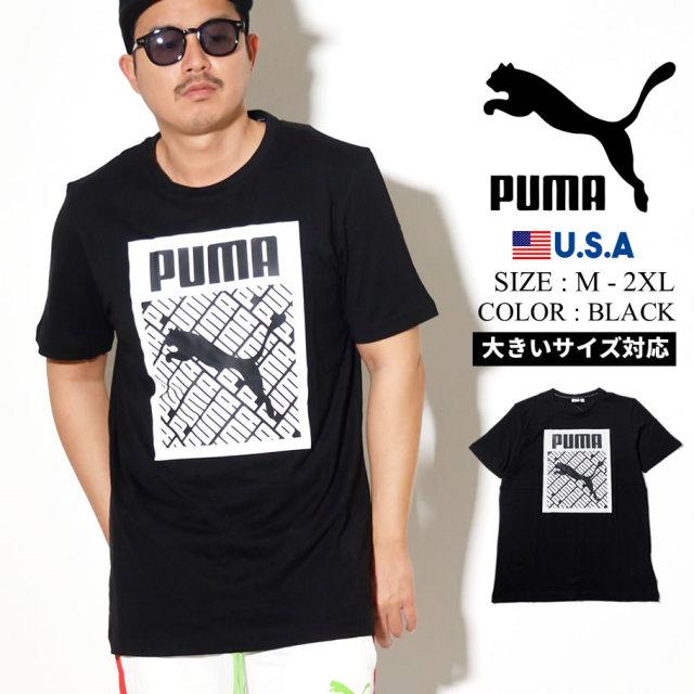 PUMA プーマ 半袖 Tシャツ メンズ ロゴ Logo Tee Logo Fill 01 PUMA BLACK 596271