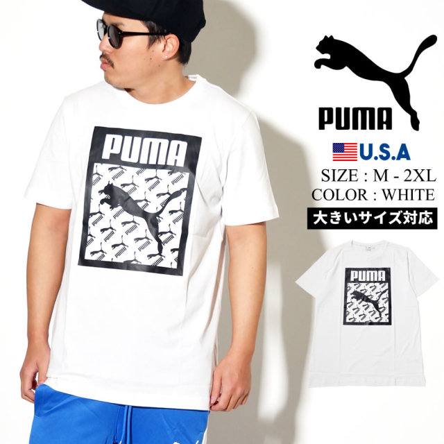PUMA プーマ 半袖 Tシャツ メンズ ロゴ Logo Tee Logo Fill 02 PUMA WHITE 596271
