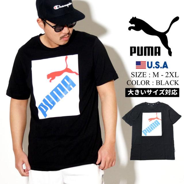 PUMA プーマ 半袖 Tシャツ メンズ ロゴ BIG LOGO TEE 51 PUMA BLACK 581386