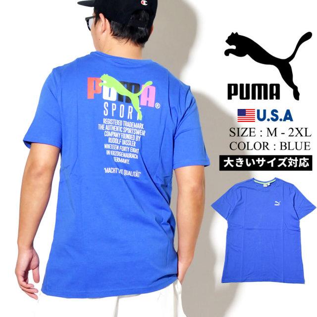 PUMA プーマ 半袖 Tシャツ メンズ GRAPHIC TEE TFS 89 DAZZLING BLUE 597167