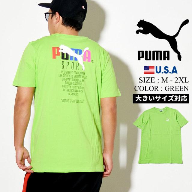 PUMA プーマ 半袖 Tシャツ メンズ GRAPHIC TEE TFS 87 GREENFLASH 597167