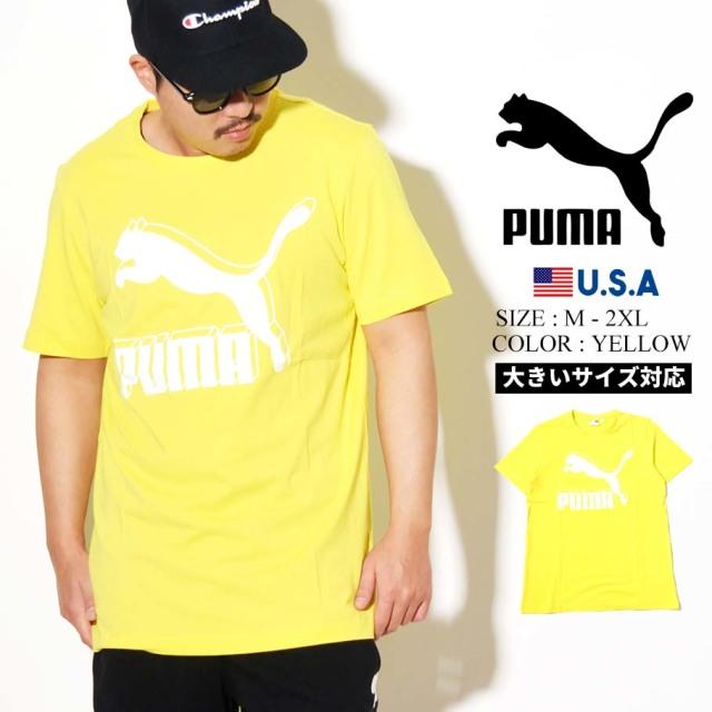 PUMA プーマ 半袖 Tシャツ メンズ CLASSICS LOGO TEE 27 MEADOW LARK 595132