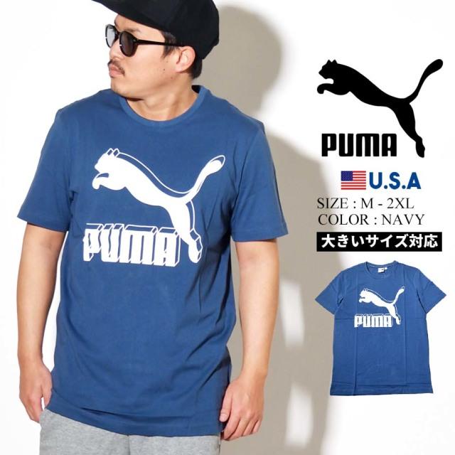 PUMA プーマ 半袖 Tシャツ メンズ CLASSICS LOGO TEE 43 DARK DENIM 595132