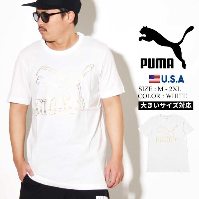 PUMA プーマ 半袖 Tシャツ メンズ CLASSICS LOGO TEE 62 PUMA WHITE 2 595132