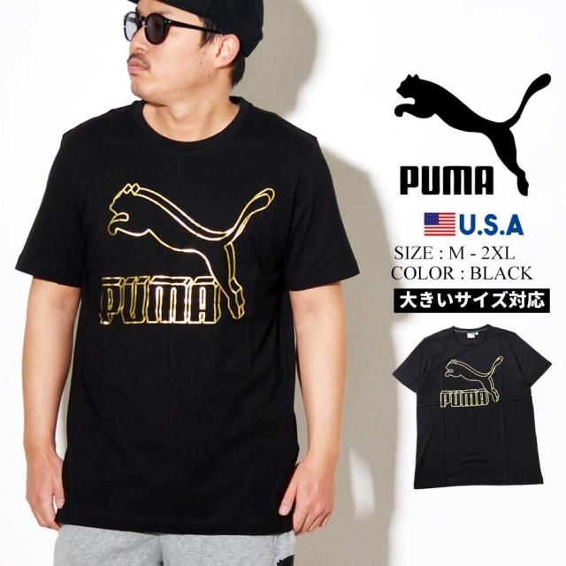 PUMA プーマ 半袖 Tシャツ メンズ CLASSICS LOGO TEE 66 PUMA BLACK 2 595132