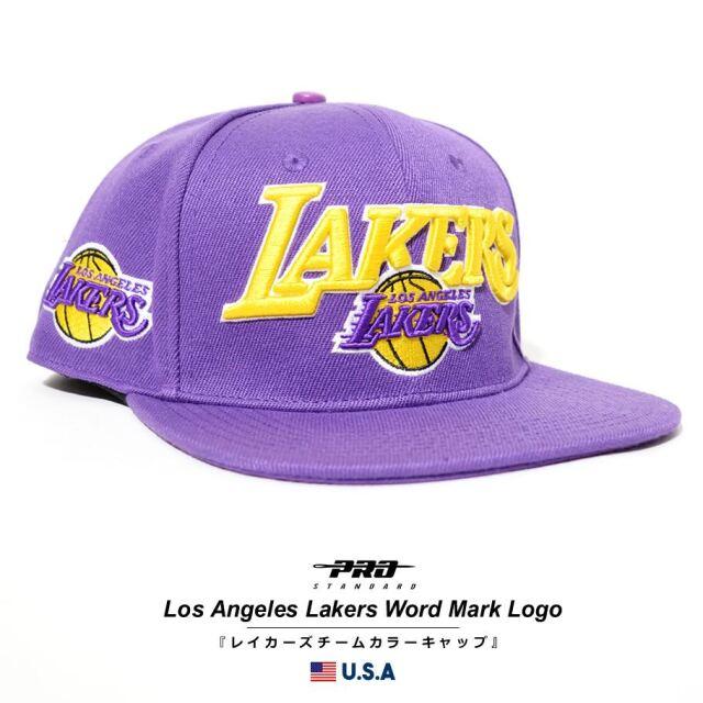 プロスタンダード PRO STANDARD キャップ 帽子 メンズ レディース ロサンゼルス・レイカーズ NBA LOS ANGELES LAKERS WORD MARK LOGO SNAPBACK HAT