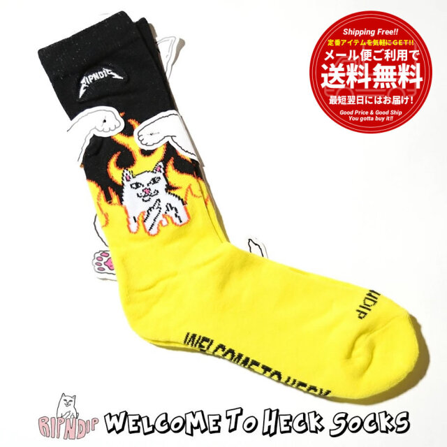 ripndip リップンディップ ソックス 靴下 Welcome To Heck Socks RND3680Z