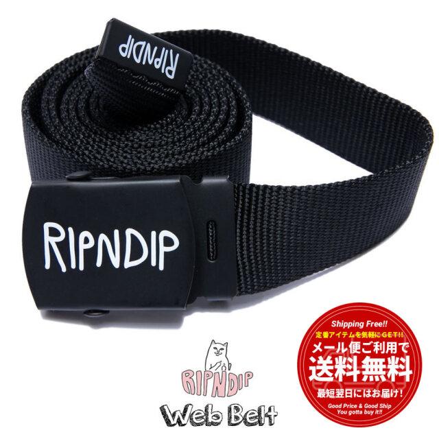 RIPNDIP リップンディップ ウェブベルト ガチャベルト GIベルト メンズ Logo Web Belt RND4799