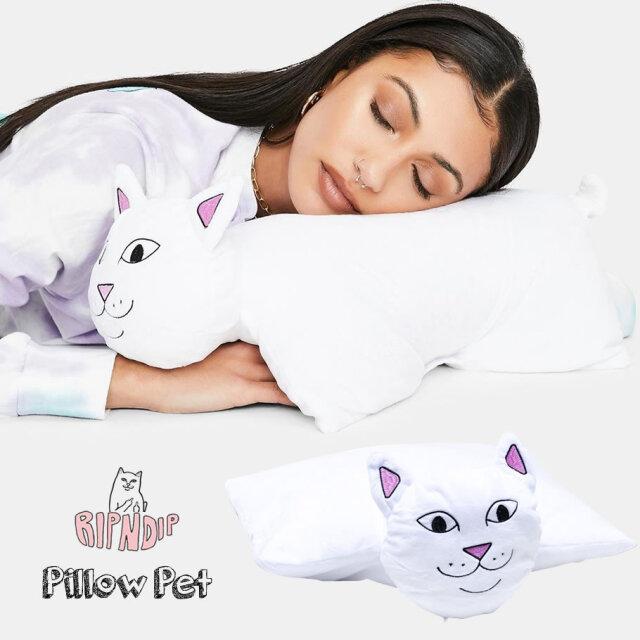 RIPNDIP リップンディップ クッション 猫型 枕 ロードナーマルピローペット RND4800