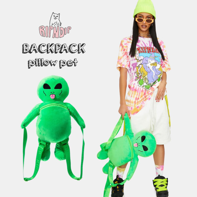 RIPNDIP リップンディップ ぬいぐるみリュック メンズ レディース Lord Alien Plush Backpack RND4617