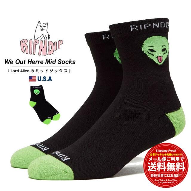 RIPNDIP リップンディップ クルーソックス メンズ レディース 靴下 We Out Here Mid Socks RND4996 春夏 新作