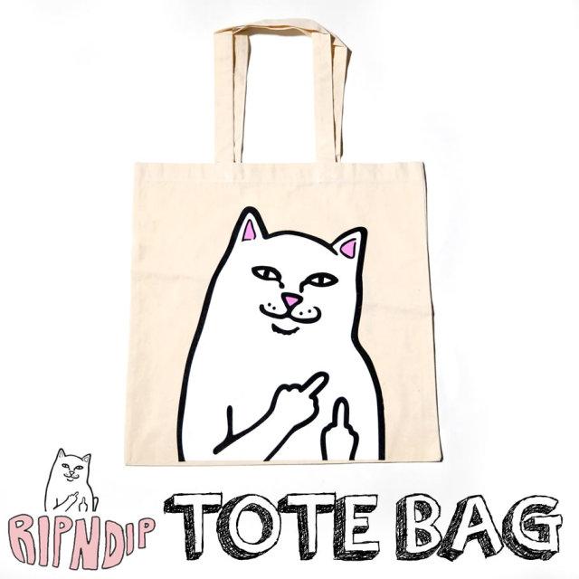 RIPNDIP リップンディップ トートバッグ 猫 ネコ 鞄 RDBT003