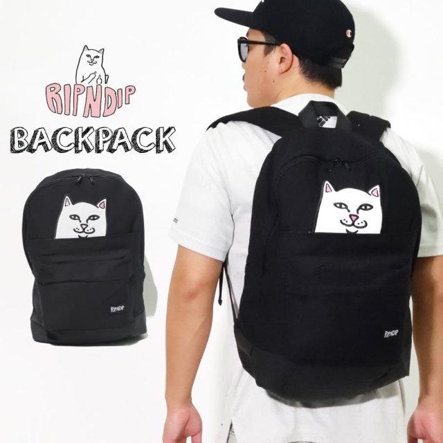 ripndip リップンディップ リュック バックパック メンズ レディース 猫 ネコ LORD NERMAL BACKPACK RND1099P