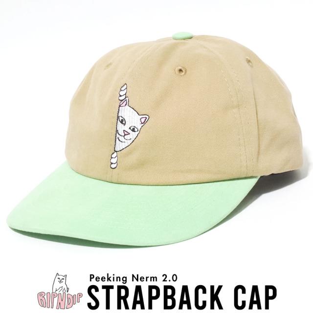 RIPNDIP リップンディップ キャップ ロゴ Peeking Nerm Strapback RND4374