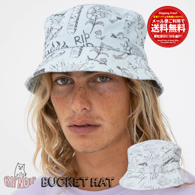RIPNDIP リップンディップ バケットハット 帽子 メンズ レディース Sharpie Bucket Hat RND4757