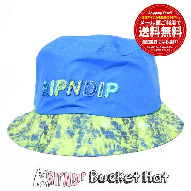 RIPNDIP リップンディップ バケットハット 帽子 メンズ レディース ブランド USAモデル Prisma Cotton Dyed Bucket Hat RND6088