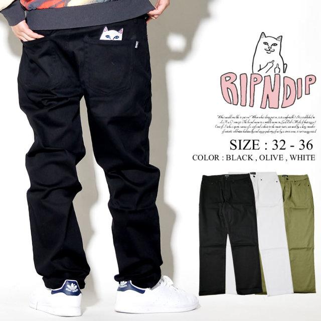RIPNDIP リップンディップ デニムパンツ メンズ ポケット 猫 ネコ スケーター ストリート系 ファッション 服 通販
