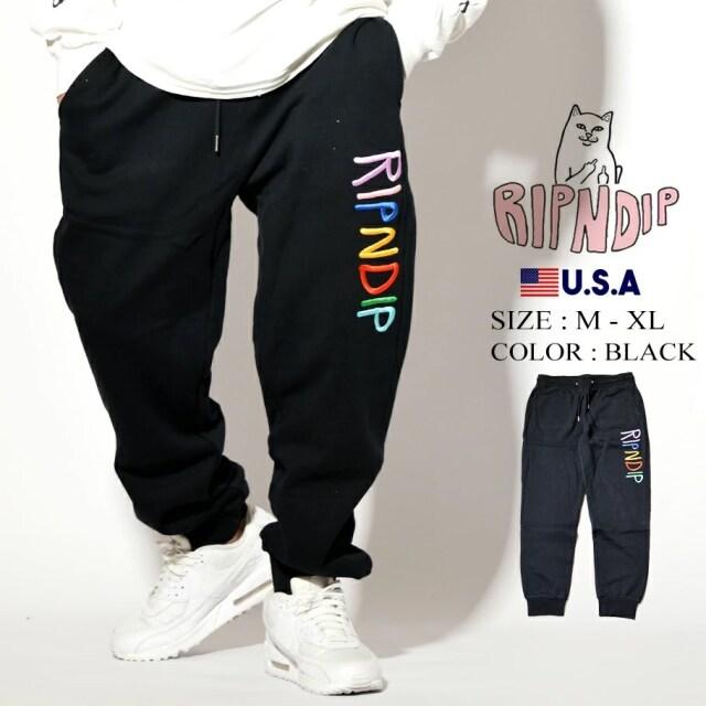 ripndip リップンディップ スエットパンツ ロゴ Multi Color Logo Sweat Pants RND4543
