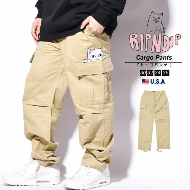 RIPNDIP リップンディップ カーゴパンツ メンズ ワイド 猫 ネコ ブランド USAモデル Peeking Nermal Cargo Pants RND6021
