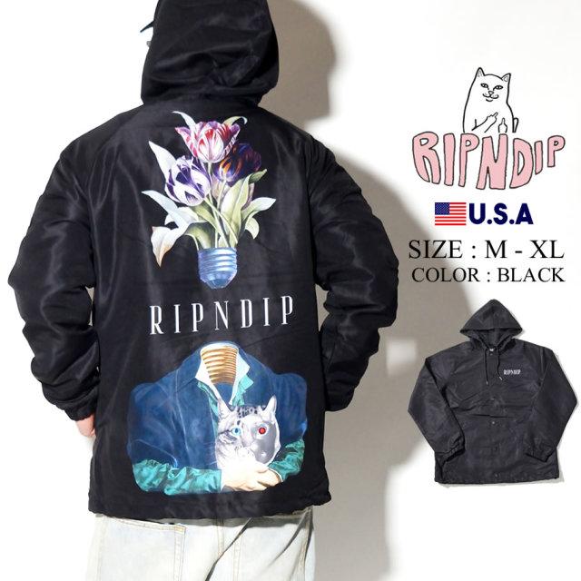 ripndip リップンディップ フード付き コーチジャケット メンズ 猫 ネコ ストリート系 ファッション RND3907 服 通販