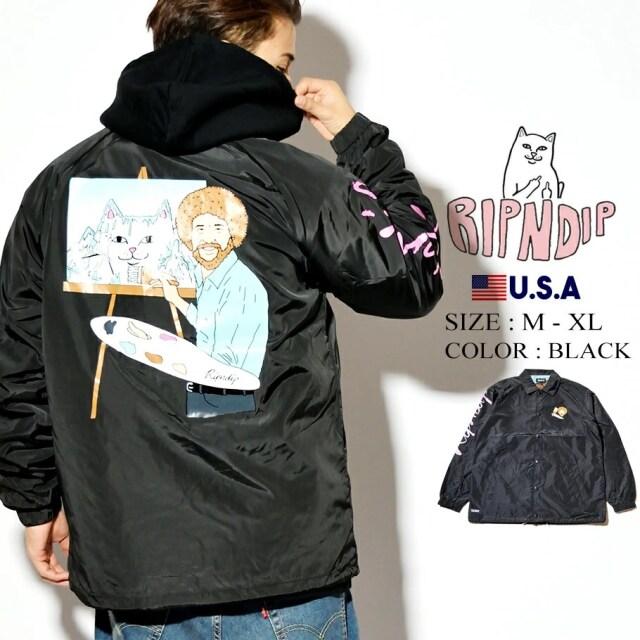 ripndip リップンディップ コーチジャケット 猫 ネコ Beautiful Mountain Coaches Jacket RND3144