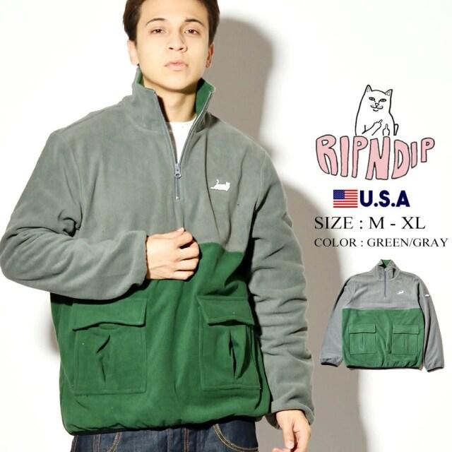 ripndip リップンディップ ハーフジップパーカー ネコ 猫 Castanza Split Half Zip Sweater RND4500