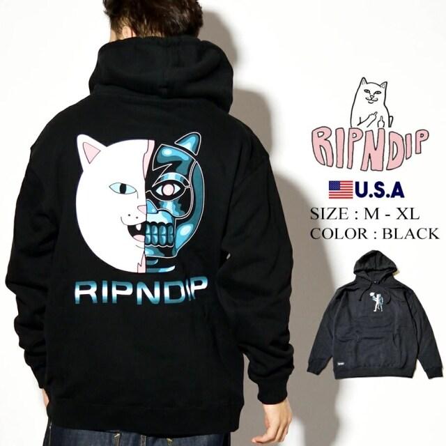 ripndip リップンディップ パーカー 猫 ネコ Nerminator Hoodie RND4527