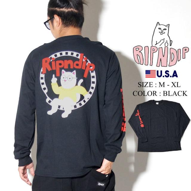 RIPNDIP リップンディップ ロンT Tシャツ 長袖 メンズ レディース バックプリント 猫 ネコ ストリート系 ファッション Narthur LS 服 通販