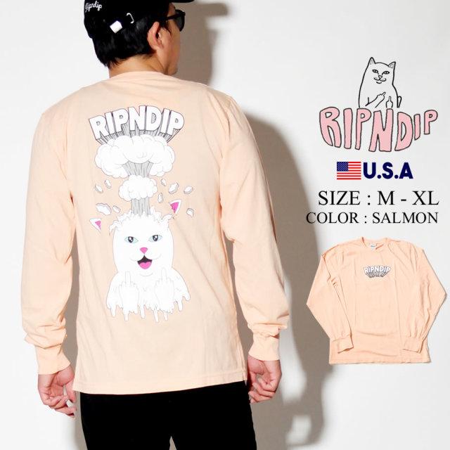 ripndip リップンディップ ロンT 長袖Tシャツ メンズ 猫 ネコ バックプリント ストリート系 ファッション RND3943 服 通販
