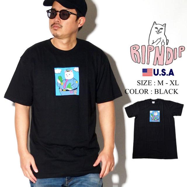 ripndip リップンディップ Tシャツ メンズ 猫 ネコ 警察官 ストリート系 ファッション RND3949 服 通販