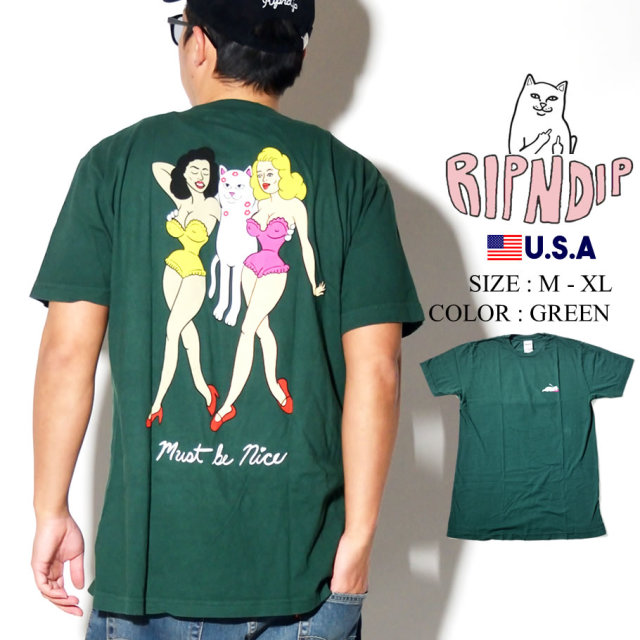 ripndip リップンディップ Tシャツ メンズ 猫 ネコ 女性 ストリート系 ファッション RND3953 服 通販