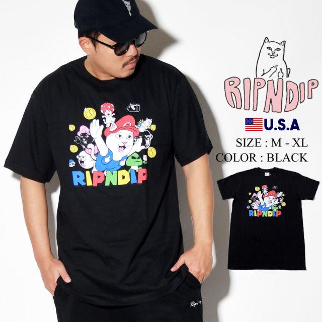 ripndip リップンディップ Tシャツ メンズ 猫 ネコ パロディ ストリート系 ファッション RND3957 服 通販