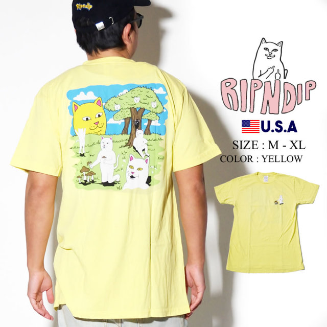 ripndip リップンディップ Tシャツ メンズ 猫 ネコ ストリート系 ファッション RND3961 服 通販