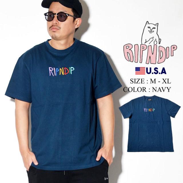 ripndip リップンディップ Tシャツ メンズ カラフル ネームロゴ ストリート系 ファッション RND3970 服 通販