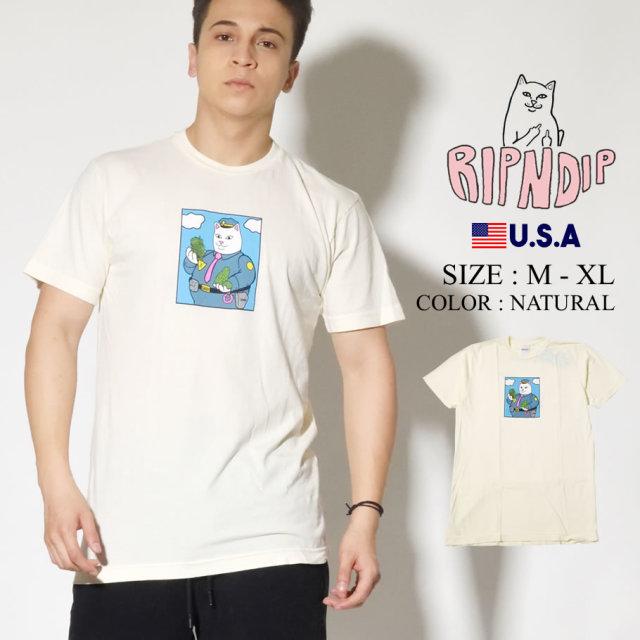 ripndip リップンディップ Tシャツ メンズ ネコ 猫 CONFISCATED TEE RND4187