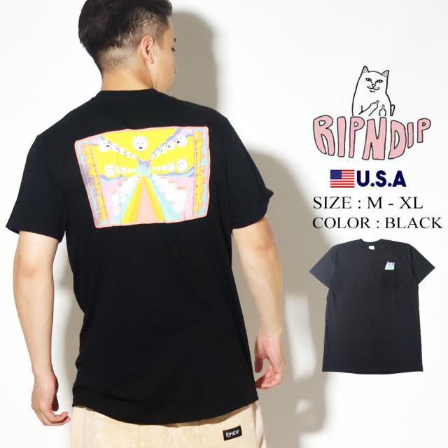 RIPNDIP リップンディップ ポケット Tシャツ 半袖 Rainbow Road Pocket Tee RND4353